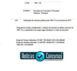 Concurso TRE/CE: Projeto prevê edital em 2017 para nível médio e superior! Até R$12mil!
