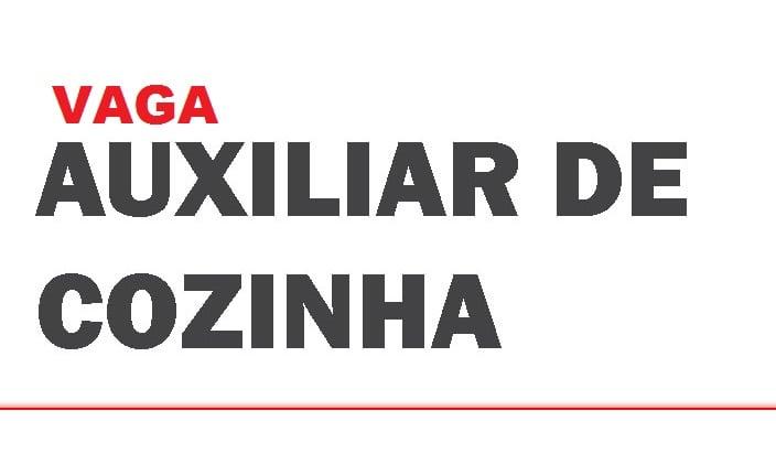 AUXILIAR DE COZINHA- FRITADEIRA