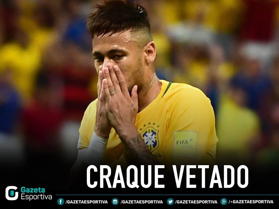 Neymar Jr. fora da Copa!